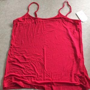 Faded Glory Tops - Faded Glory spaghetti strap cami, red, XXL (20)